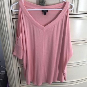 A.n.a short sleeve, shoulder cut out sweater!